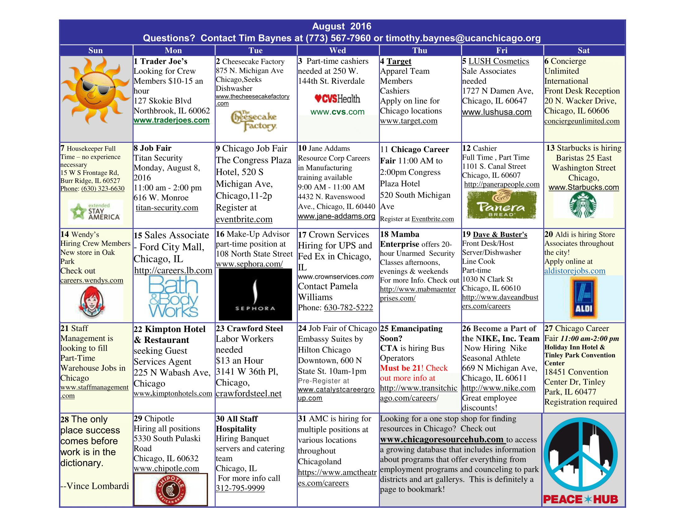 ASPs August 2016 Employment Calendar-image